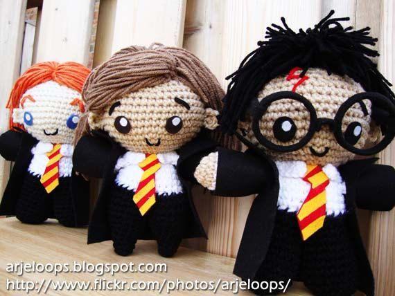 Harry Potter trio amigurumi.