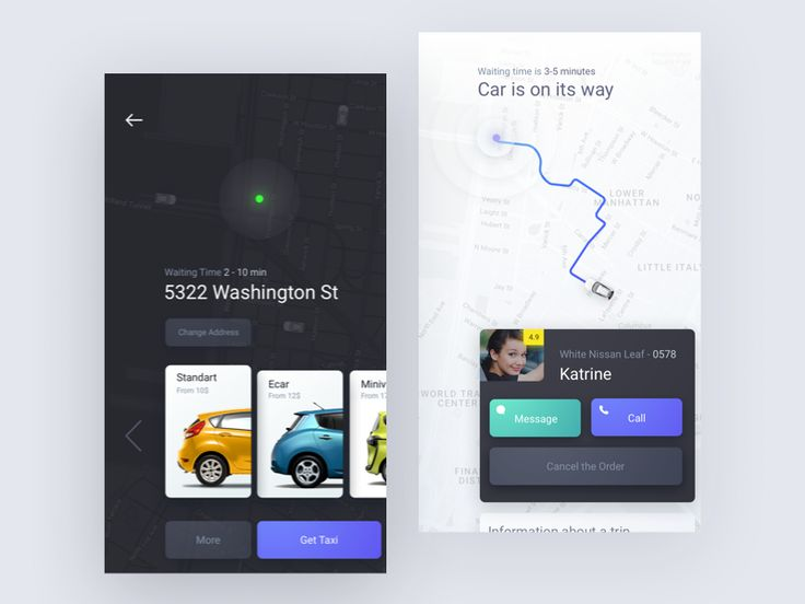 Here's a couple of screens of our new project. It's an existing Taxi app. The main feature of this app is that user may not specify the final destination address. User just open the app, it finds h...