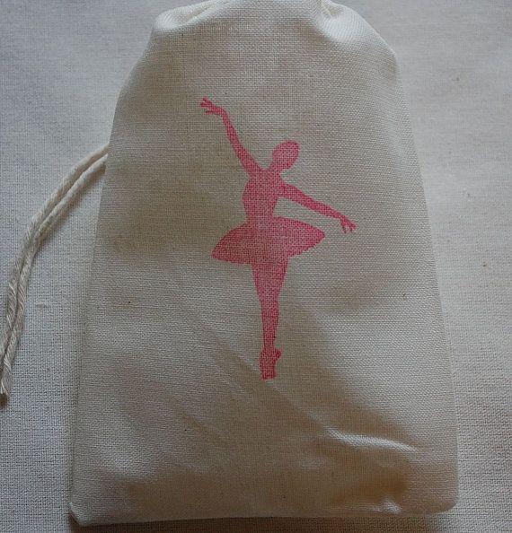 10 bailarina muselina algodón fiesta favor bolsas de 4 x 6