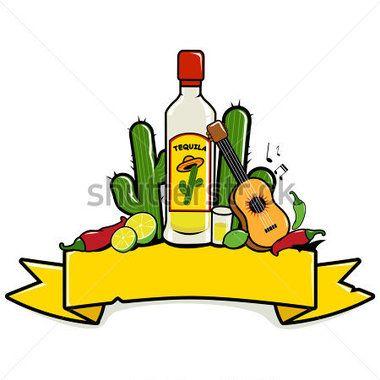 Resultado de imagen para imagen de un zarape, una botella de tequila y un sombrero mexicano