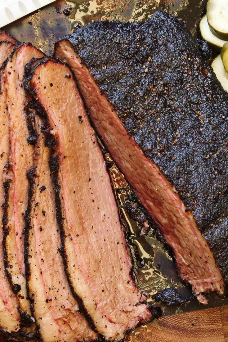This recipe lets you recreate a smoked brisket even if it's getting too cold to fire up the smoker—we cook the meat sous vide with pink salt and liquid smoke to simulate the smoking process. You can then finish in a smoker or just use the oven.