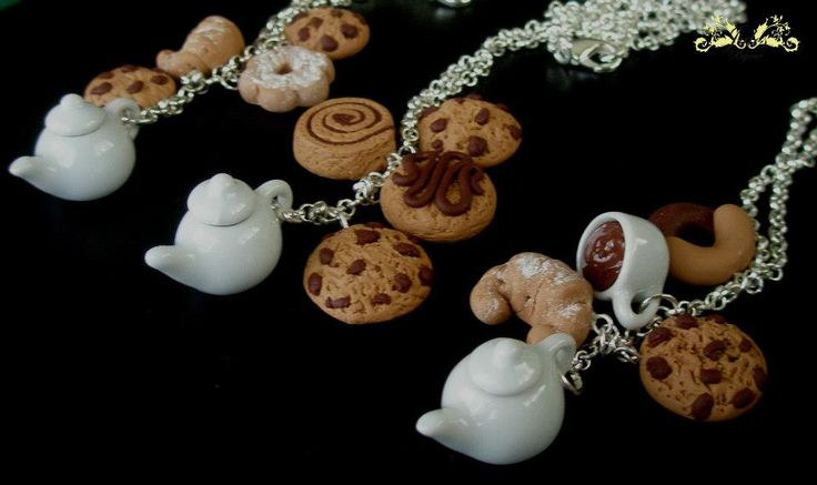 collane tè #fimo #handmade #polymerclay #julesbijoux