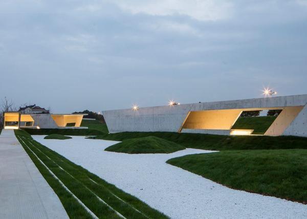 «Zigzagging» – бетонная веранда из ломанных линий построенная Шанхае…