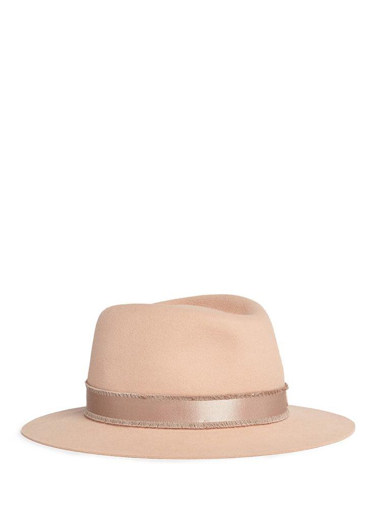 MAISON MICHEL 'André' Rabbit Furfelt Trilby Hat. #maisonmichel #hat