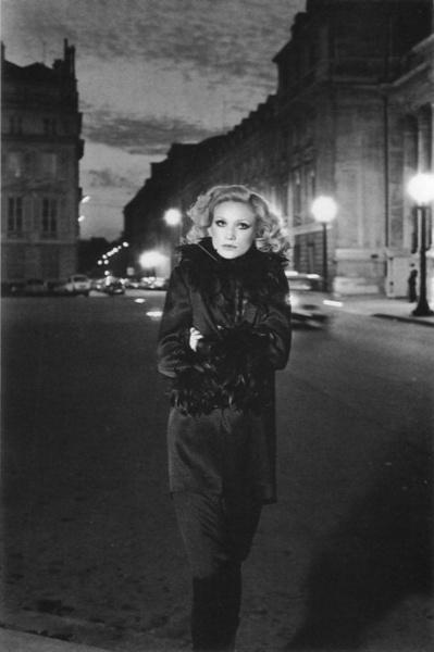 a Pierre Cardin ensemble photographed by Helmut Newton in Paris, Vogue Paris, 1974.