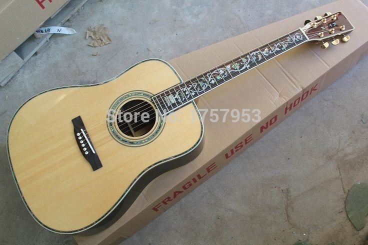 287.56$  Watch now - http://ali5dn.shopchina.info/go.php?t=32805013529 - custom guitar factory 2017 new Top Quality Custom 45S Classic Acoustic Dreadnought Guitar Solid spruce life tree inlay fret 111 287.56$ #buymethat