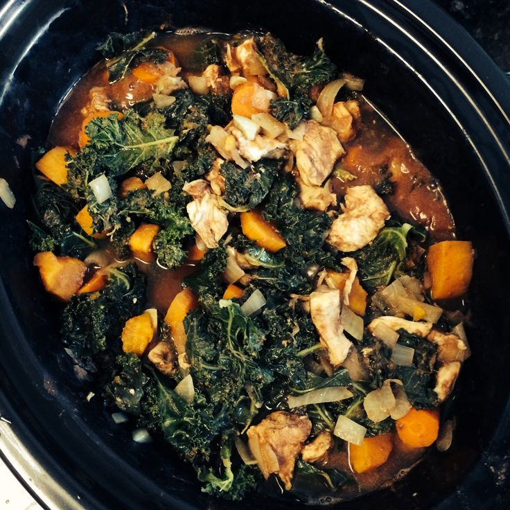 January is National Slow Cooking Month! Dust off your slow cooker and try this delicious Chicken, Kale and Sweet Potato Stew! Servings: 1 Protein 1 Vegetable 1 Starch Suitable for Fast Track Patie…