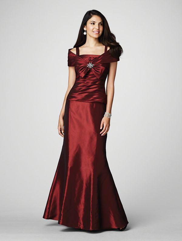 Red Taffeta Mother of the Bride Dresses