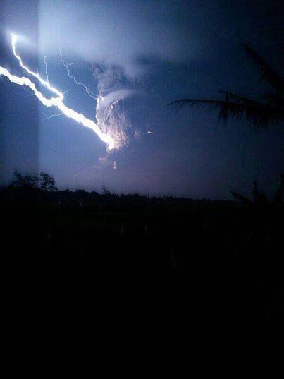 Kondisi Gunung Kelut 13 Feb 2014