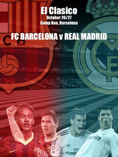 PICTURE: El Clasico FC Barcelona vs Real Madrid on 26th/27th of October