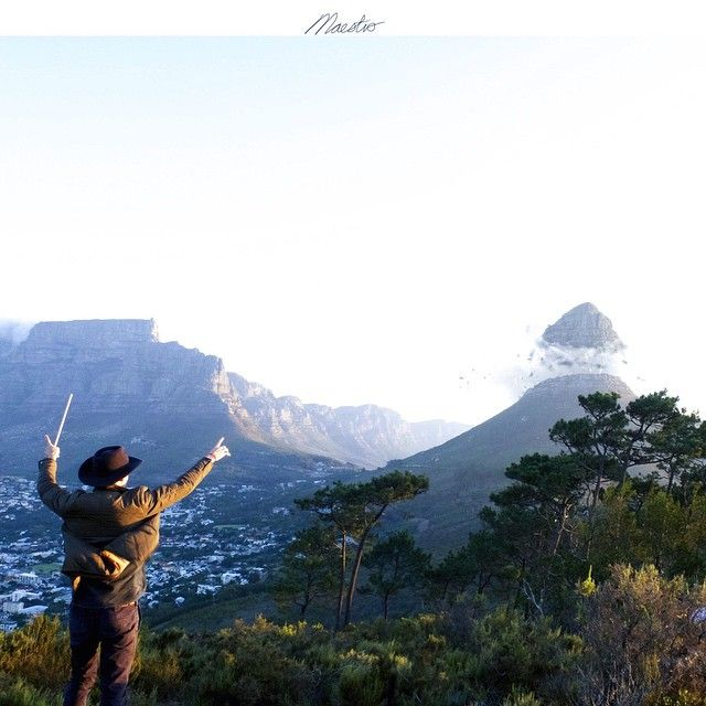 An eminent composer, teacher, or conductor of music: Toscanini and other great maestros.  If you can conduct a symphony, I guess you could conduct a mountain.  This is the first of a new hashtag series that I'm starting called #conductagram  Taken of lions head from signal hill at yesterday's  #instameet.  #HPSAmycommunity #WWIM11_CT  #WWIM11_SA  #WWIM11_SIGNAL #huntgramsouthafrica #huntgramcreativity