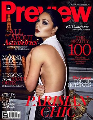 KC Concepcion poses in Paris for mag cover