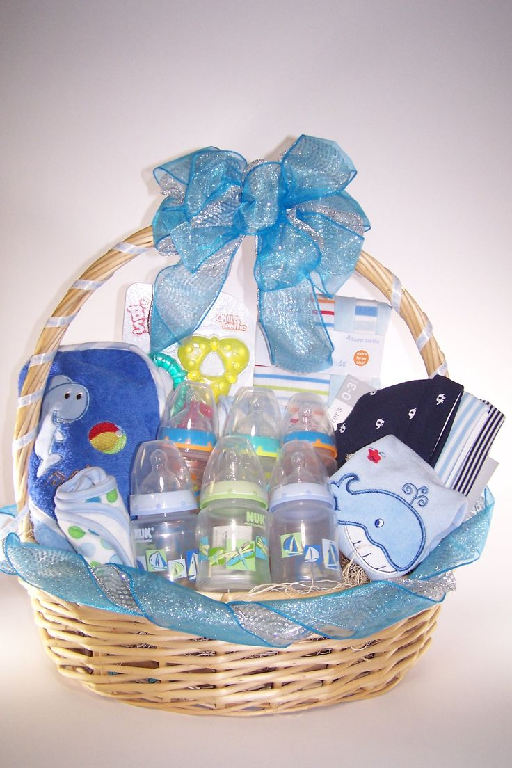 Baby Boy Gifts To Sew : Baby shower it s a boy gift basket baskets