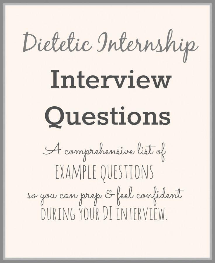 Dietetic Internship Interview Questions   StephanieRDN.com #RD2Be