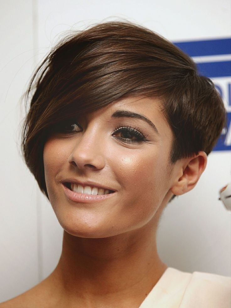 Frankie Sandford Asymmetrical Short Hair Style - Stylish Hairstyles for Thin Hair 2015 Love the color!