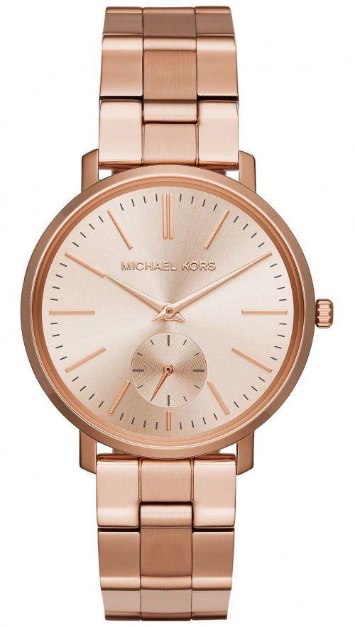 Ρολόι Michael Kors Jaryn με ρόζ χρυσό μπρασελέ MK3501