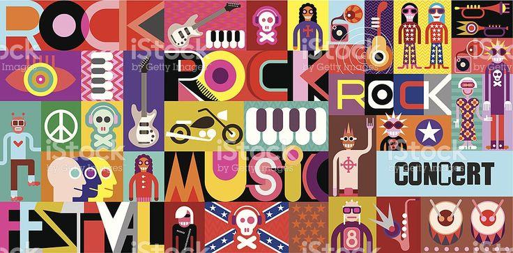 Rock Concert Poster royalty-free stock vector art