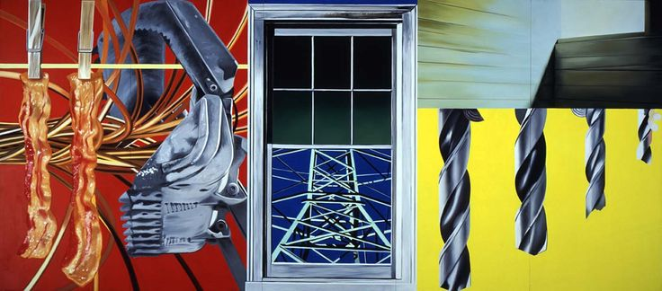 James Rosenquist. Industrial Cottage. Oil on canvas, 1977.