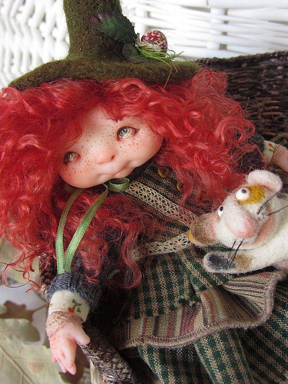 """Купить """"Пенни и Ми-ми"""" - куклы ксении зайцевой, коллекционная кукла, авторская кукла, подарок"""