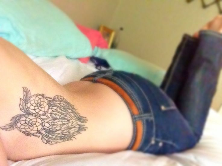 Dream-catcher Owl. I am in love with my tattoo. Rib tattoos are definitely worth it. #owl #tattoo #placement