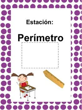 Math Stations: Perimeter, Area & Volume IN SPANISH