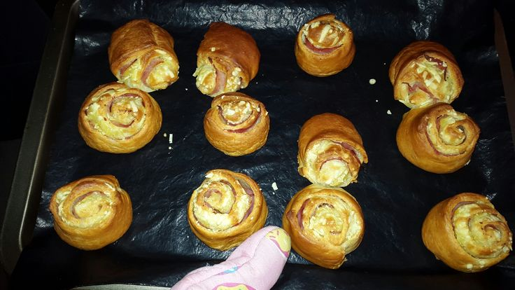 Ham-'kaas' broodjes (melkvrij)