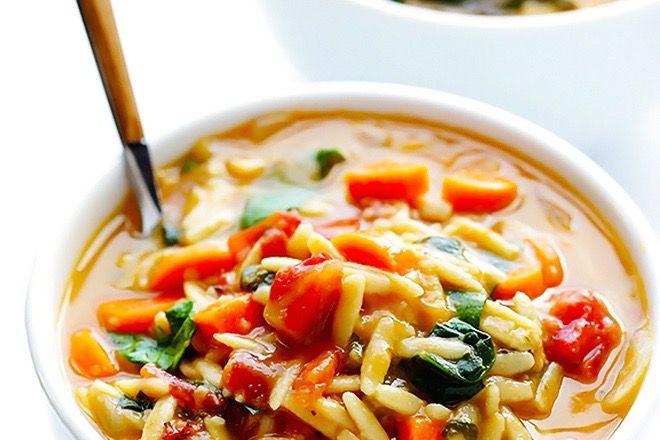 Soupe italienne à l'Orzo et aux épinards