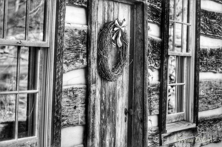 1762 Side View #LogCabin #BlackandWhite #Photograph