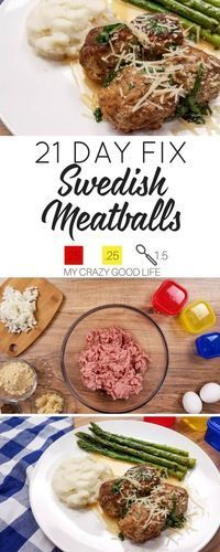 Looking for a healthier version of your favorite Swedish Meatballs recipe? I've got one for you! While this recipe will save you some calories, it doesn't compromise taste! | 21 Day Fix Swedish Meatballs Recipe | Instant Pot Dinner Recipe | 21 Day Fix Din