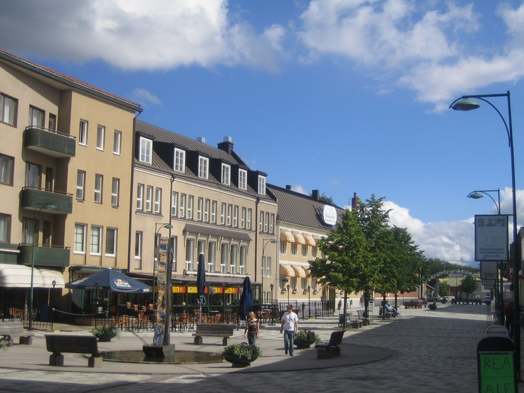 Jakobstad, Finland - pedestrian walkway. My father's hometown in the Swedish part of Finland