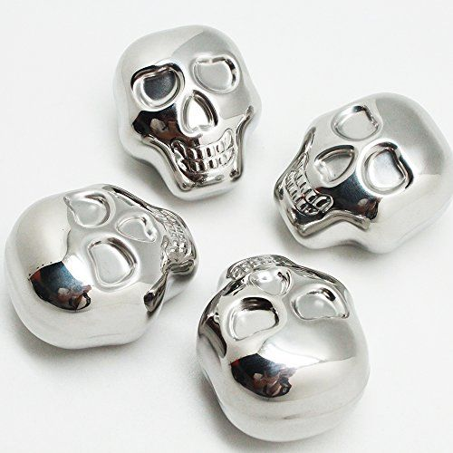 Longpro Stainless Steel Whiskey Stones Chilling for Beverages Drinks with A Pouch Skull 4 -- Want to know more, click on the image.