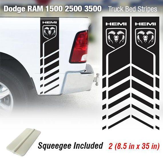 DODGE 4X4 OFFROAD BEDSIDE DECALS STOCK SIZE RAM 1500 2500 DAKOTA HEMI 4 X 4