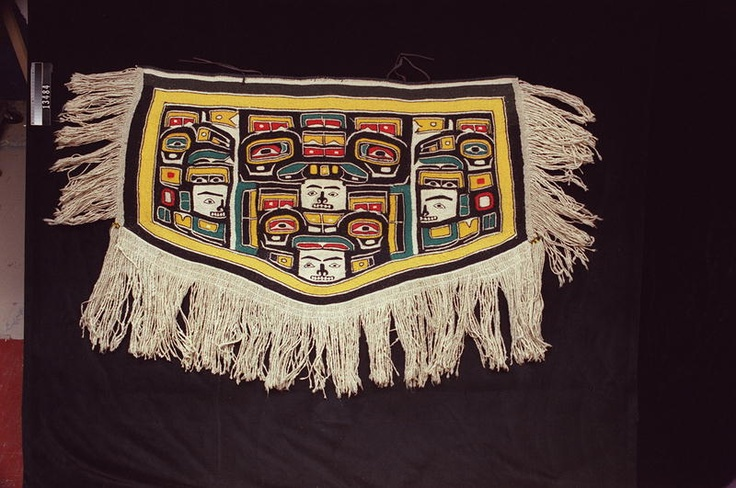 """Another signature Mary Ebbetts robe """"Eugene's blanket"""" RBCM 13484"""