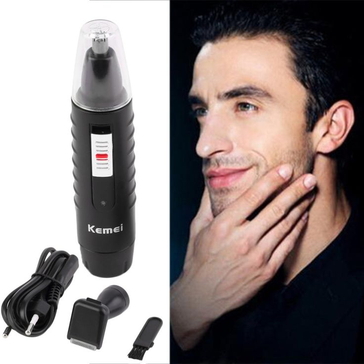 2 in 1 Electric Nose Ear Face Hair Trimmer Shaver Eyebrow Clipper Cleaner Health Care EU Plug