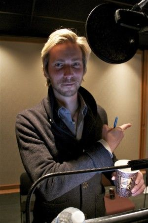 Troy Baker in the recording studio