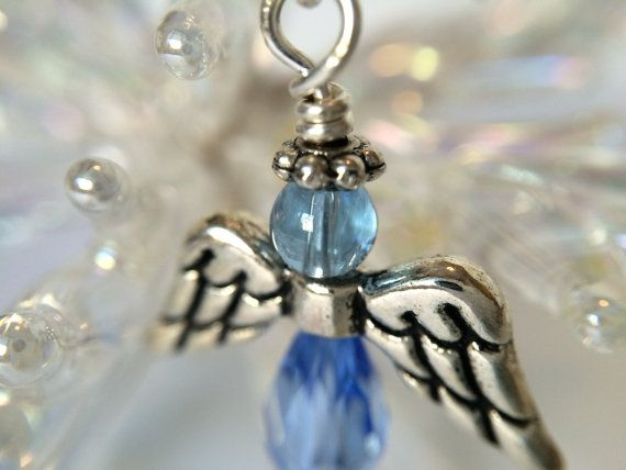 Angel Earrings Periwinkle Blue made with love xx by CharmingDeva