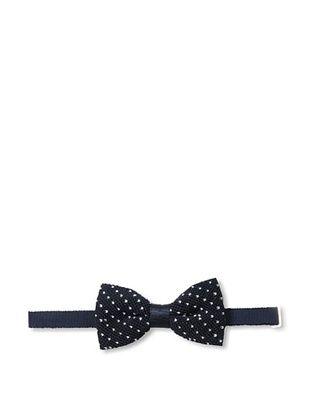 Desanto Men's Galla Annodata Bow Tie, Navy/White