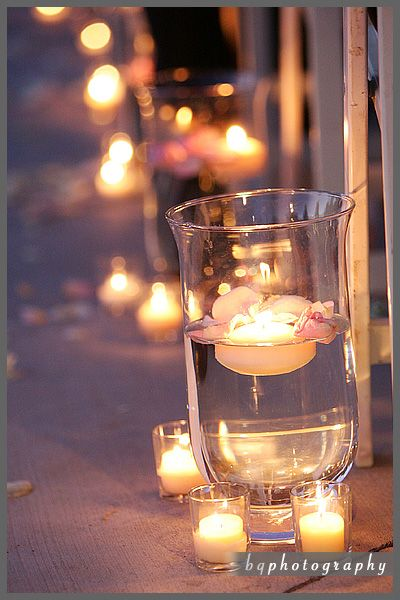 Want something different at your wedding, forget the aisle runner. Turn the lights down and opt for the candlelit isle!