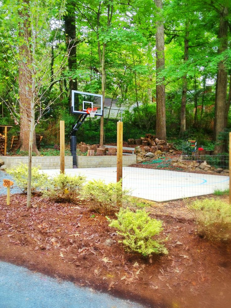 Pro Dunk Platinum And Its Half Court Are Surrounded By The Gorgeous Garden  In The Backyard