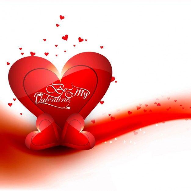 Ondulado fundo vermelho do amor Vetor grátis