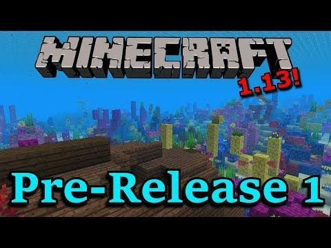 Minecraft 1 13 Pre Release 1 New Title Screen New Music New