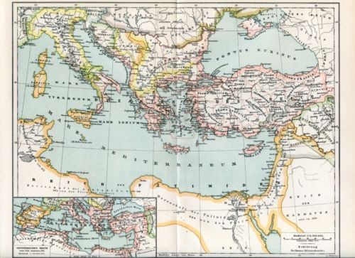 Byzantine Empire around the year 1000 AD..plan Antique map...1898 in Antiques, Maps, Atlases & Globes, Other Antique Maps & Atlases | eBay