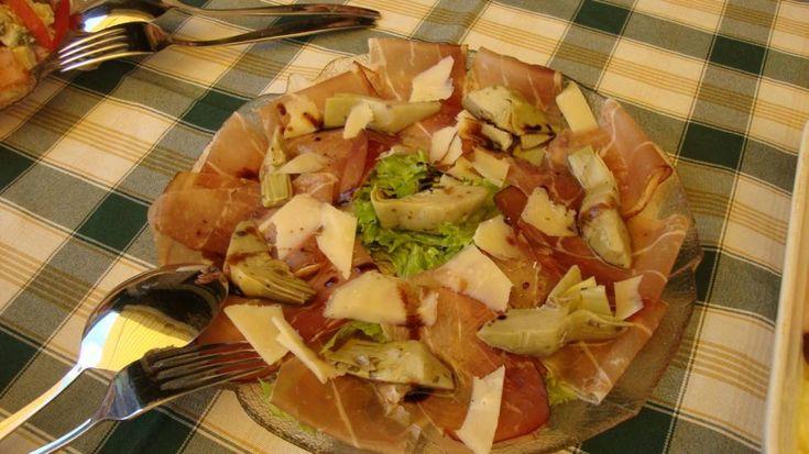 Rauwe ham artisjok salade