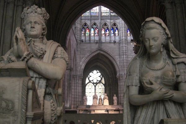Tomb of Louis XVI and Marie Antoinette in The Cathedral Basilica of Saint Denis