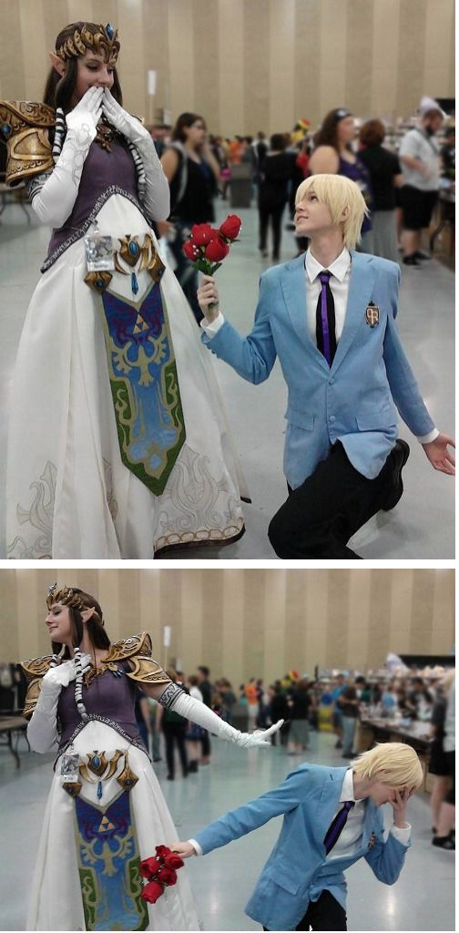 """""""Reasons why I love being a Tamaki Suoh cosplayer: I get to see the look on a beautiful princess's face immortalized in photograph when I offer my heart to her only to feel the pain of rejection."""" -tumbr user: tamaswiss (Me: Lol! So awesome!)//// I love cosplayers"""