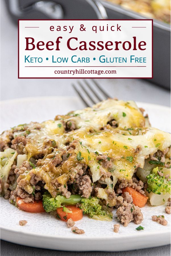 Easy Low Carb Keto Ground Beef Casserole Quick Healthy