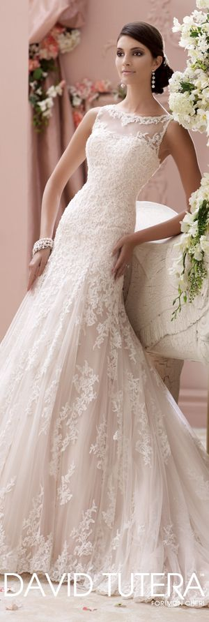The David Tutera for Mon Cheri Spring 2015 Wedding Dress Collection - Style No. 115234 Locklyn   davidtuteraformoncheri.com  #weddingdresses