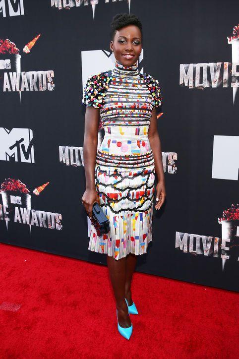 Lupita Nyong'o in Chanel at the MTV Movie Awards