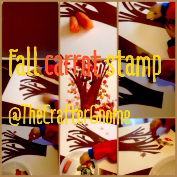 Fall carrot stamp @The Crafter Gnome
