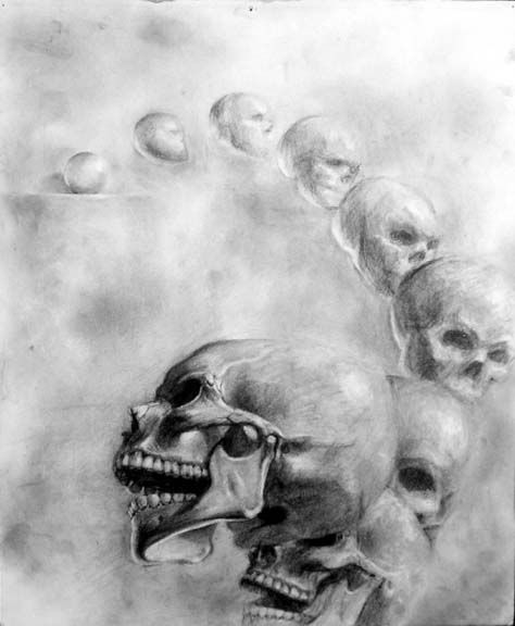 Skull transformation by ~angotti81  Traditional Art / Drawings / Miscellaneous